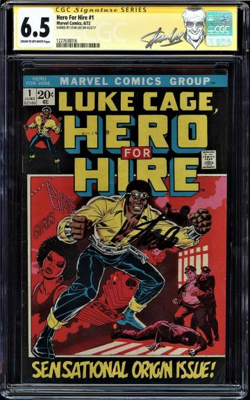 Hero For Hire #1 Cgc 6.5 Ss Stan Lee Origin And 1st App Luke Cage #1227638016