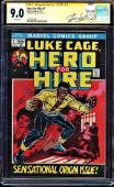 Hero For Hire #1 Cgc 9.0 White Ss Stan Lee Signed 1st App Luke Cage #1227813003