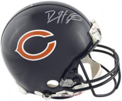Devin Hester Chicago Bears Autographed Pro-Line Riddell Authentic Helmet - Mounted Memories