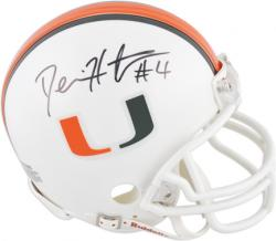 Devin Hester Miami Hurricanes Autographed Riddell Mini Helmet