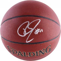 Roy Hibbert Indiana Pacers Autographed Spalding Indoor Outdoor Basketball - Mounted Memories  - Mounted Memories