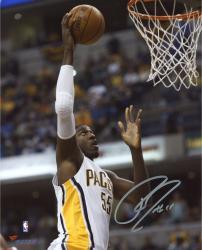"Roy Hibbert Indiana Pacers Autographed 8"" x 10"" Close Up Dunk Photograph"
