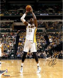 "Roy Hibbert Indiana Pacers Autographed 16"" x 20"" Mid Range Shot Photograph"