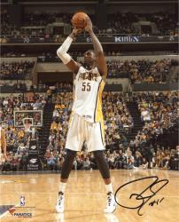 "Roy Hibbert Indiana Pacers Autographed 8"" x 10"" Mid Range Shot Photograph"