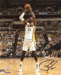 "Roy Hibbert Indiana Pacers Autographed 8"" x 10"" Mid Range Shot Photograph"