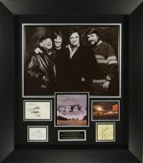 Highwaymen Cash, Jennings, Nelson, Kristofferson Signed Disp