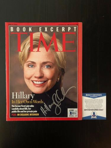Hilary Clinton Signed Autograph Time Magazine - Bill, Hrc, What Happened