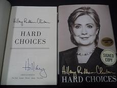 Hillary Clinton Presidential Signed Auto 2014 Hard Choices Book Proof W/coa B