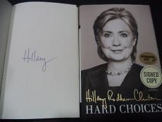 Hillary Clinton Presidential Signed Auto 2014 Hard Choices Book Proof W/coa E