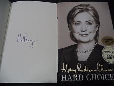 Hillary Clinton Presidential Signed Auto 2014 Hard Choices Book Proof W/coa F