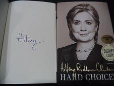 Hillary Clinton Presidential Signed Auto 2014 Hard Choices Book Proof W/coa G