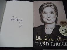 Hillary Clinton Presidential Signed Auto 2014 Hard Choices Book Proof W/coa J