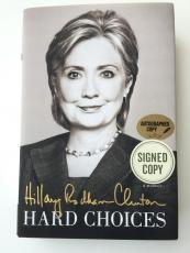 """HILLARY CLINTON Signed Hardcover Book """"Hard Choices"""" JSA N36906"""