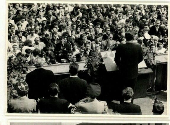 Historic 1963 President John F. Kennedy Berlin Wall Speech, Orig  News Photo