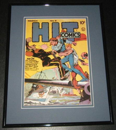 Hit Comics #9 Neon Unknown Framed Cover Photo Poster 11x14 Official Repro