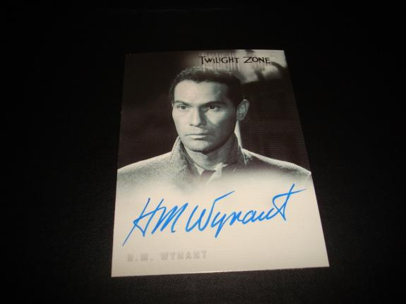 H.M. Wynant Perry Mason Signed 2000 Rittenhouse Twilight Zone Certified Auto A14