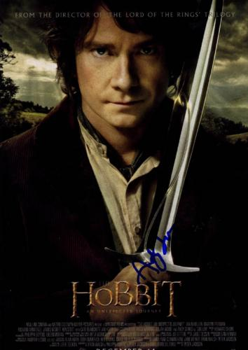Hobbit Unexpected Journey Andy Serkis Autographed Poster UACC RD AFTAL