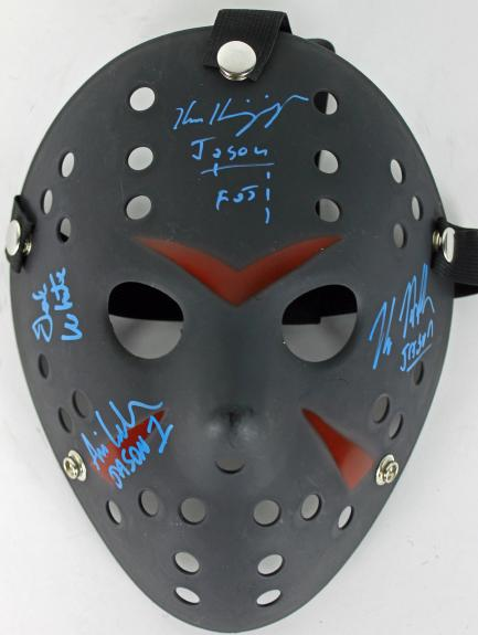 Hodder, White, Kirzinger & Lehman Signed Friday The 13th Jason Mask JSA 2