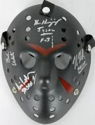 Hodder, White, Kirzinger & Lehman Signed Friday The 13th Jason Mask JSA 3