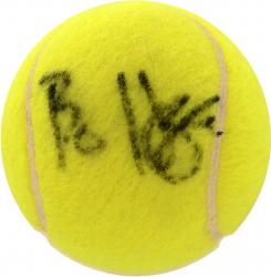 HODGE, BO AUTO (TENNIS) BALL - Mounted Memories