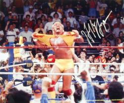 Hulk Hogan Autographed 20'' x 24'' Hulkamania Photograph - Mounted Memories