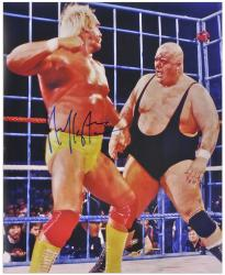 Hulk Hogan Autographed 16'' x 20'' vs King Kong Bundy Photograph - Mounted Memories