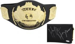 Hulk Hogan Autographed WWE Replica Heavyweight Foam Belt - Mounted Memories