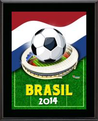 "Holland 2014 Brazil Sublimated 10.5"" x 13"" Plaque"