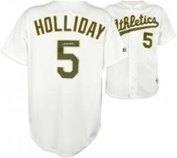 Matt Holliday Oakland Athletics Autographed Majestic White Replica Jersey - Mounted Memories