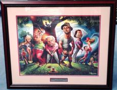 Hollywood Caddy shack lithograph comic 16x20.