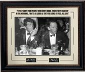 Hollywood Frank Sinatra/Dean Martin 16x20 Photo Framed w/ Quote