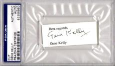 Hollywood Legend Gene Kelly Autographed-signed Cut Signature Psa/dna 83355950