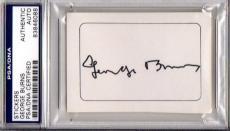 Hollywood Legend George Burns Autographed-signed Cut Signature Psa/dna 83846088