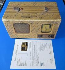 HOLLYWOOD STARS MULTI-SIGNED VINTAGE RADIO CIRCA 1930's ~ 60+ AUTOGRAPHS JSA LOA