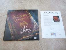 Hollywood Vampires Johnny Depp Alice Cooper Signed Autographed  LP PSA Certified
