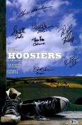 "Hoosiers Autographed 12"" x 18"" Movie Poster with Multiple Signatures - Beckett LOA"