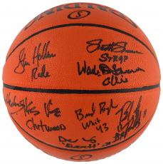 Hoosiers Autographed Indoor/Outdoor Basketball with Multiple Signatures - Beckett LOA