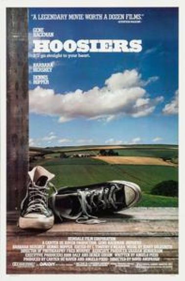 Hoosiers Original Movie Poster. 1986