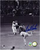 Burt Hooten Los Angeles Dodgers Autographed Home Run 8'' x 10'' Photograph - Mounted Memories