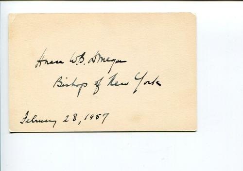 Horace W. B. Donegan Episcopal Bishop of New York NY Clergy Signed Autograph