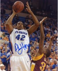 Al Horford Florida Gators Autographed 8'' x 10'' White Uniform Jump Shot Photograph - Mounted Memories