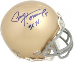 Paul Hornung Notre Dame Fighting Irish Autographed Riddell Gold Mini Helmet with 56 H Inscription