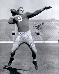 Paul Hornung Signed Notre Dame 16x20 Photo - 56 H