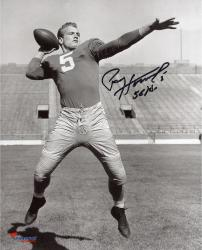 Paul Hornung Signed 8x10 Notre Dame Fighting Irish Photo - 56 H