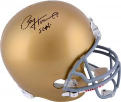 Riddell Paul Hornung Notre Dame Autographed Replica Helmet with ''56 H'' Inscription - Mounted Memories