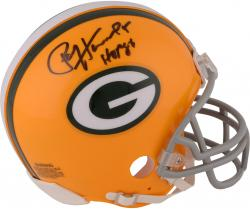 Paul Hornung Green Bay Packers Autographed Throwback Riddell Mini Helmet with HOF 86 Inscription - Mounted Memories