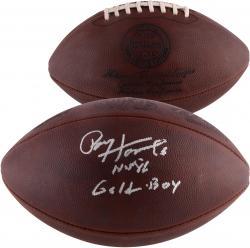 "Paul Hornung Autographed Football with ""HOF 86, Golden Boy"" Inscriptions"