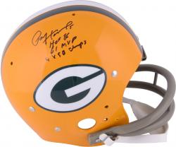 Paul Hornung Green Bay Packers Autographed Throwback Riddell Pro-Line Authentic Helmet With Multiple Inscriptions