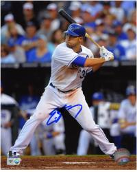 "Eric Hosmer Kansas City Royals Autographed 8"" x 10"" Batting Photograph - Mounted Memories"