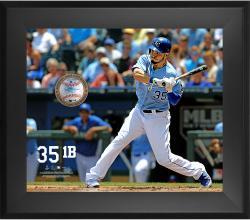 "Eric Hosmer Kansas City Royals Framed 20"" x 24"" Gamebreaker Photograph with Game-Used Ball"